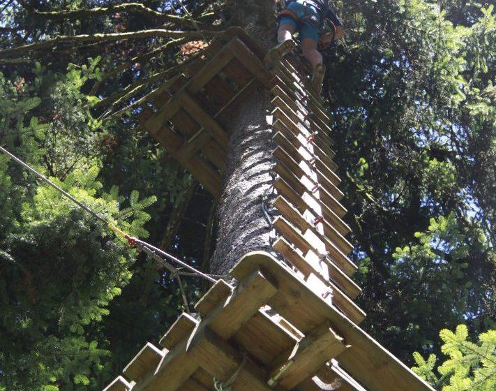 Parcours accrobatique en hauteur : Tyrol Aventure