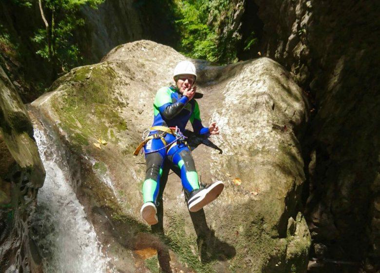 Canyon de Montmin / Angon (74), descente découverte